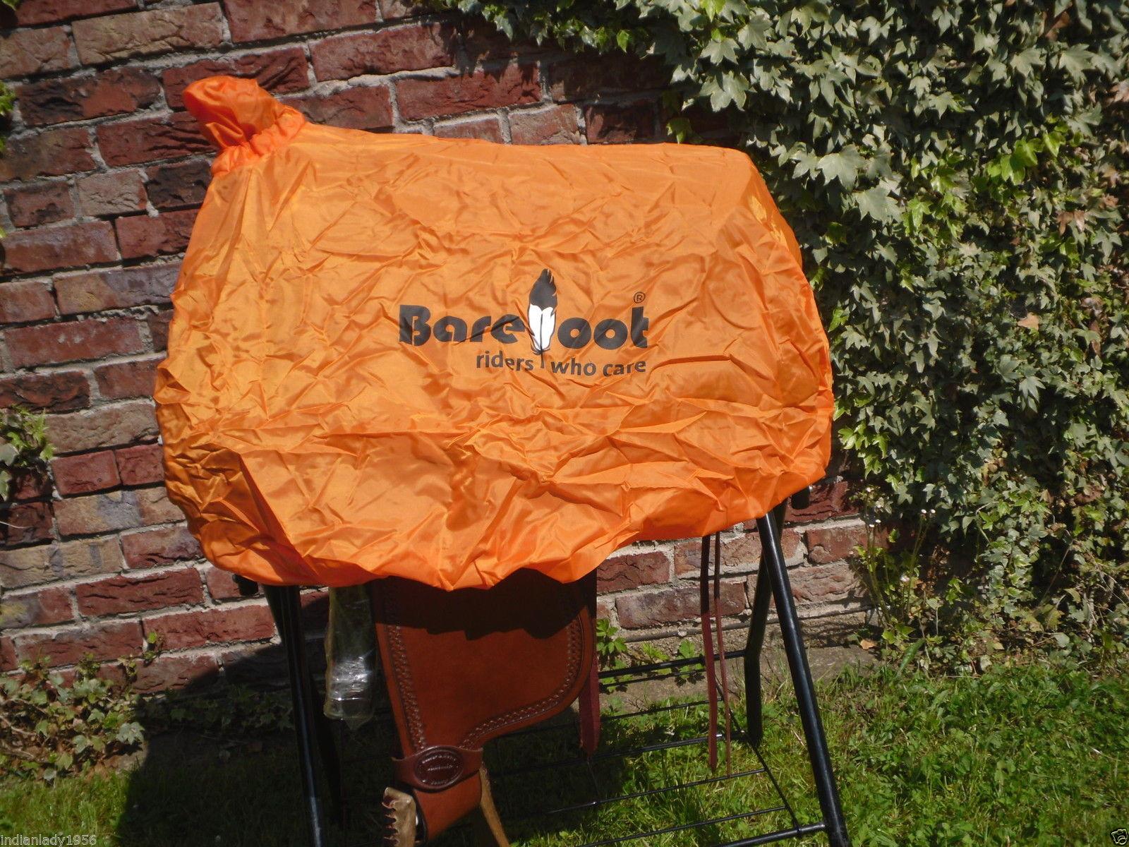 Westernsattelschoner orange Barefoot auch passend für Mattes Fellsattel