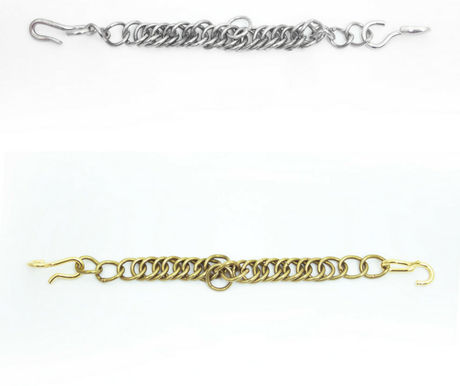 Kinnkette messing oder silber