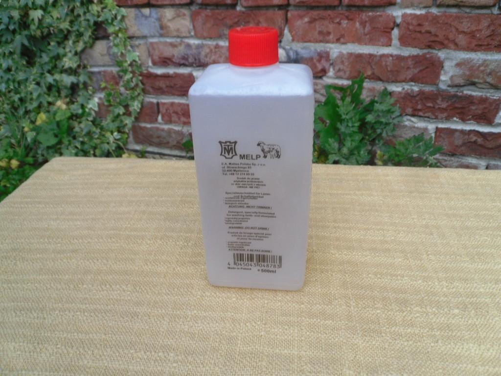 Lammfell Waschmittel Melp von Mattes für alle Lammfelle und Leder 500 ml (=32€/L)