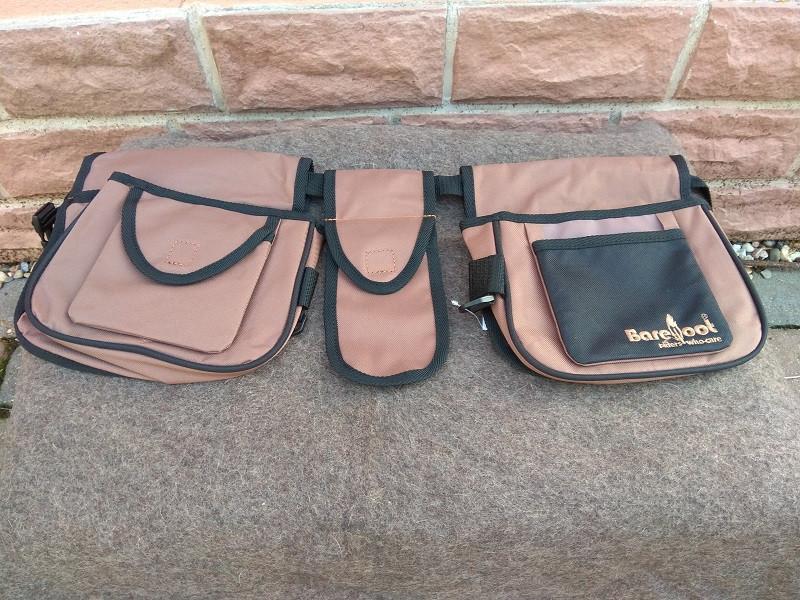 Tasche von Barefoot Multi-Belt Smartphone Tasche braun schwarz