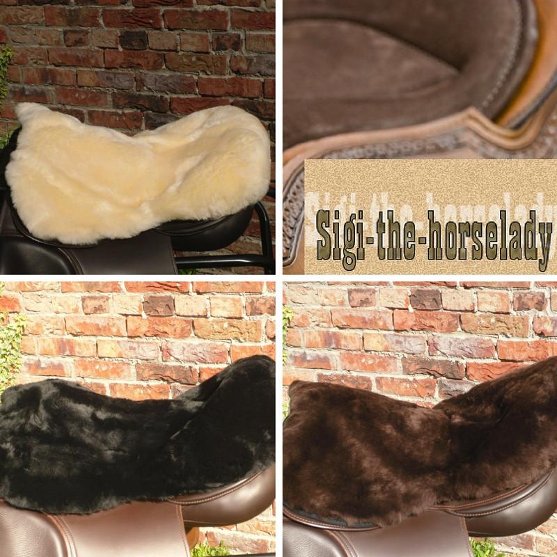 Sattelsitzfell Sitzbezug Lammfell 17 Zoll 18 Zoll und 18,5 Zoll diverse Farben