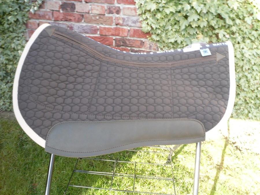 Westernpad Correction Roundskirt Sondergröße 65 cm Stoff- Farbe braun Einfass beige